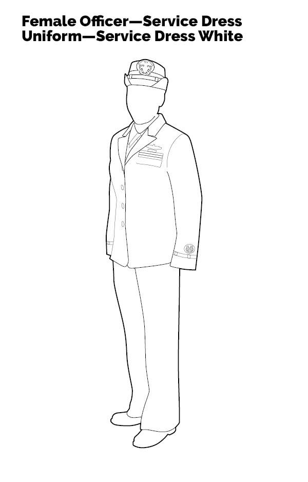 Female Officer—Service Dress Uniform—Service Dress White